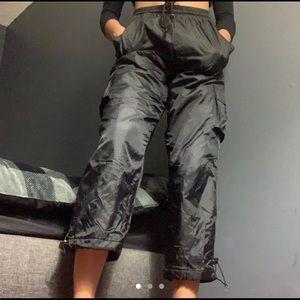 Pants - black puffer cargo pants